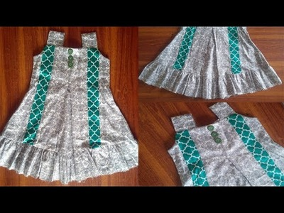 3year baby frock pannel with box plate full cutting tutorial || pannel frock || box plated frock