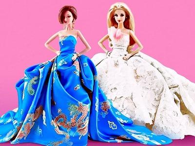 A DESIGNER SEWS GORGEOUS FASHION DRESSES FOR DOLLS