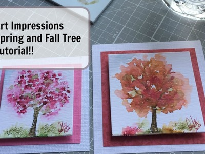 Art Impressions Spring and Fall Tree Tutorial!!