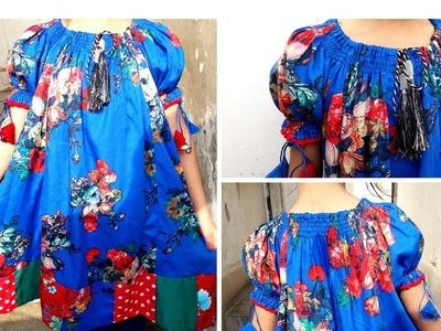 Beautiful  casual flower print raglan top and stylish shirt cutting and stitching