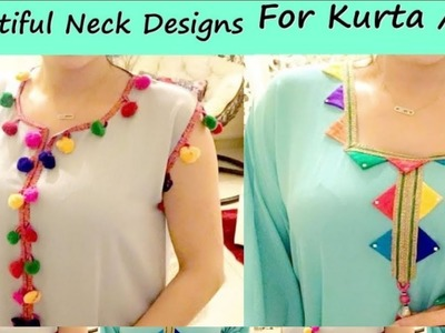 Beautiful neck design very easy method Part 2