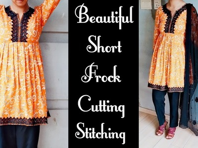 Beautiful short frock cutting and stitching with plates