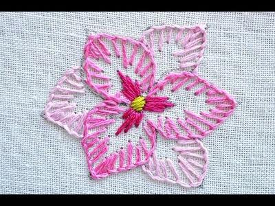 Blanket stitch flower embroidery tutorial