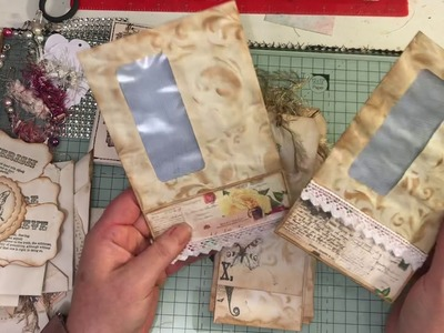 Build a journal kit ( journal and lots of embellishments lace & fabric ) for sale in my shop