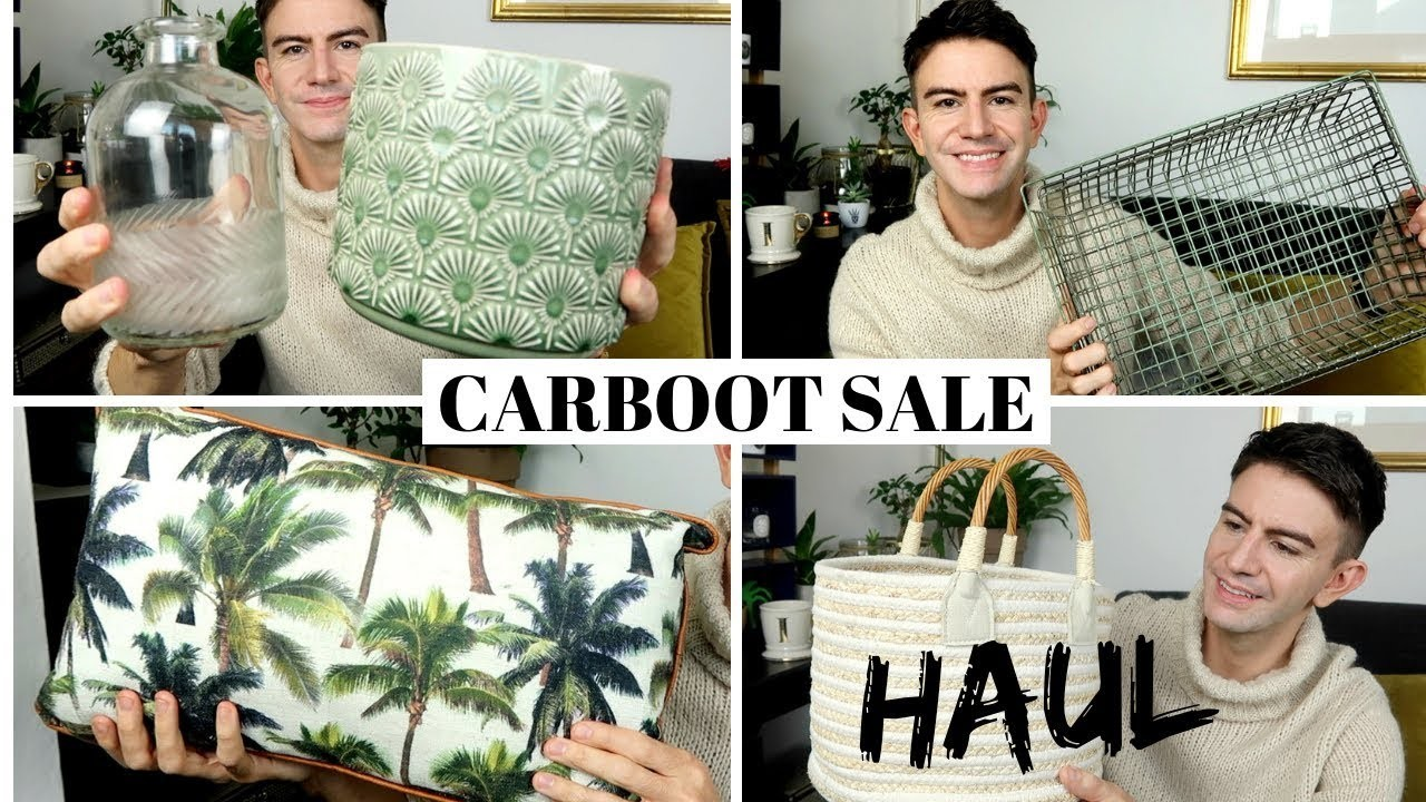 Car boot sale haul & haggling tips! | with Kate McCabe | Car Boot Sale Haul 2018