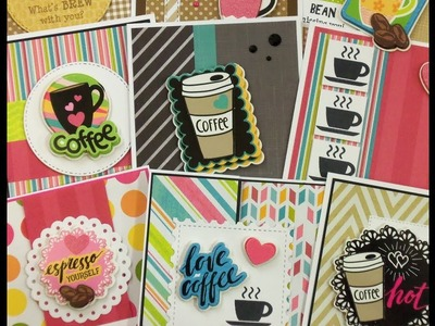 COFFEE CARDS MADE WITH DOLLAR TREE STICKERS ~ PART TWO