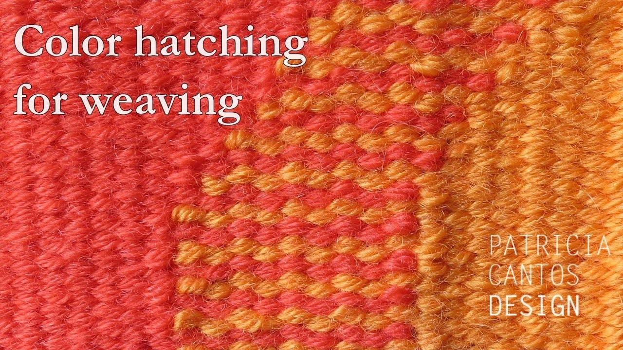 Color hatching for weaving - weaving lessons for beginners