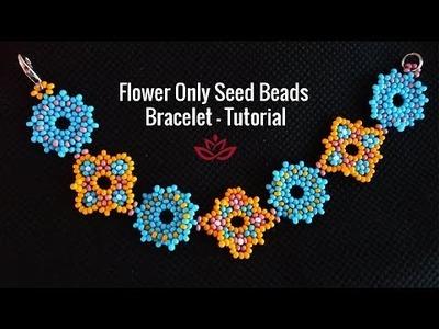 Colorful Flower Seed Beads Bracelet - Tutorial