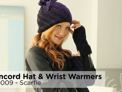 Concord Hat And Wrist Warmers made with Scarfie