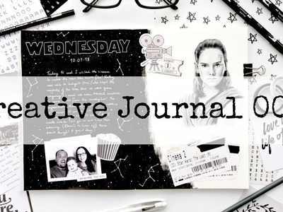 Creative Sketchbook Journaling With Me - Session 007 (Star Wars: The Last Jedi)