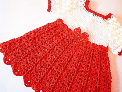 Crochet Christmas party dress Majovelcrochet #crochet