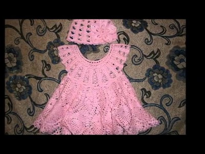 Crochet Dresses for 6 to 12 month old Girls
