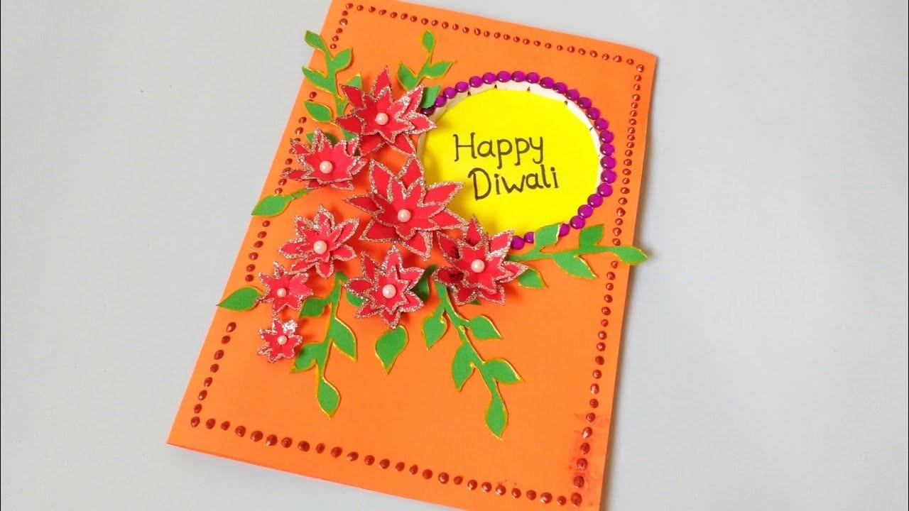 Diwali Card Making | Easy Craft Making | DIY | Paper Craft Idea for Children | Punekar Sneha
