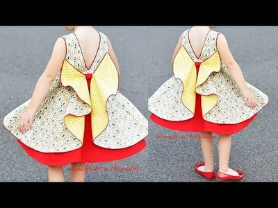 DIY Designer Baby Frock With Beautiful Back Pattern Full Tutorial