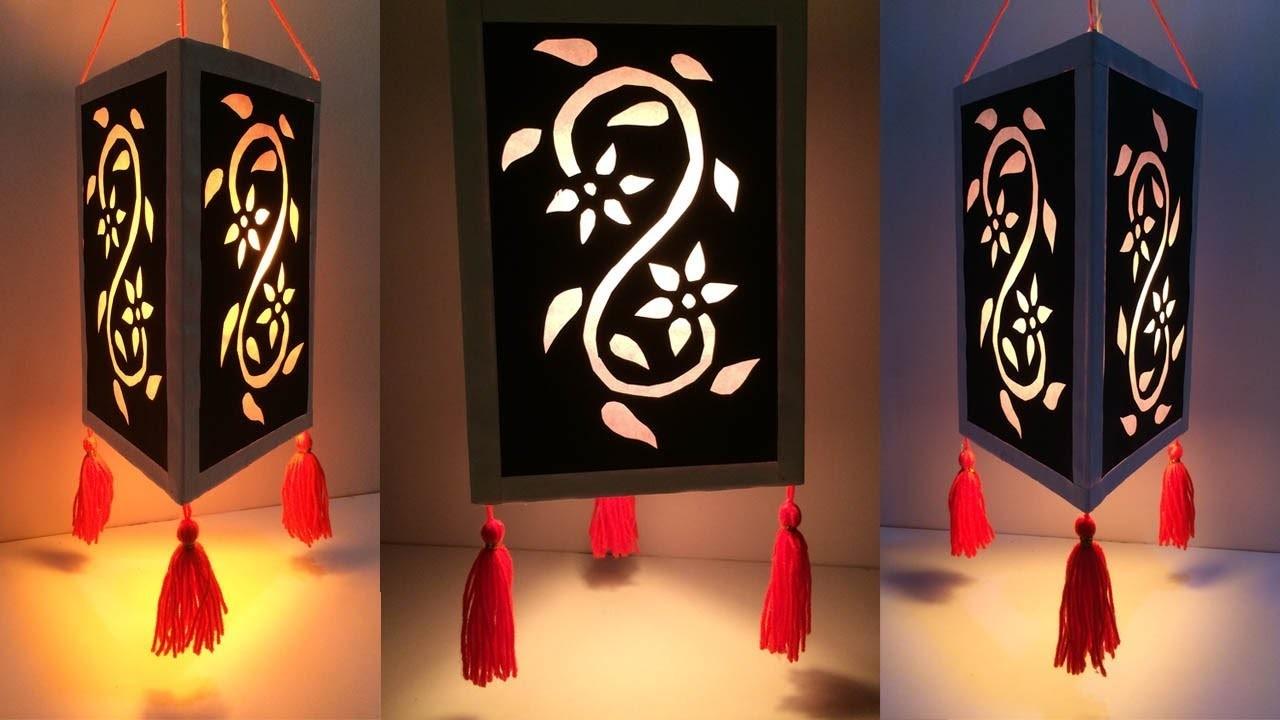 DIY Diwali decoration ideas at home easy.Home Decoration Idea.Lampshade.Lantern.Best Reuse Idea