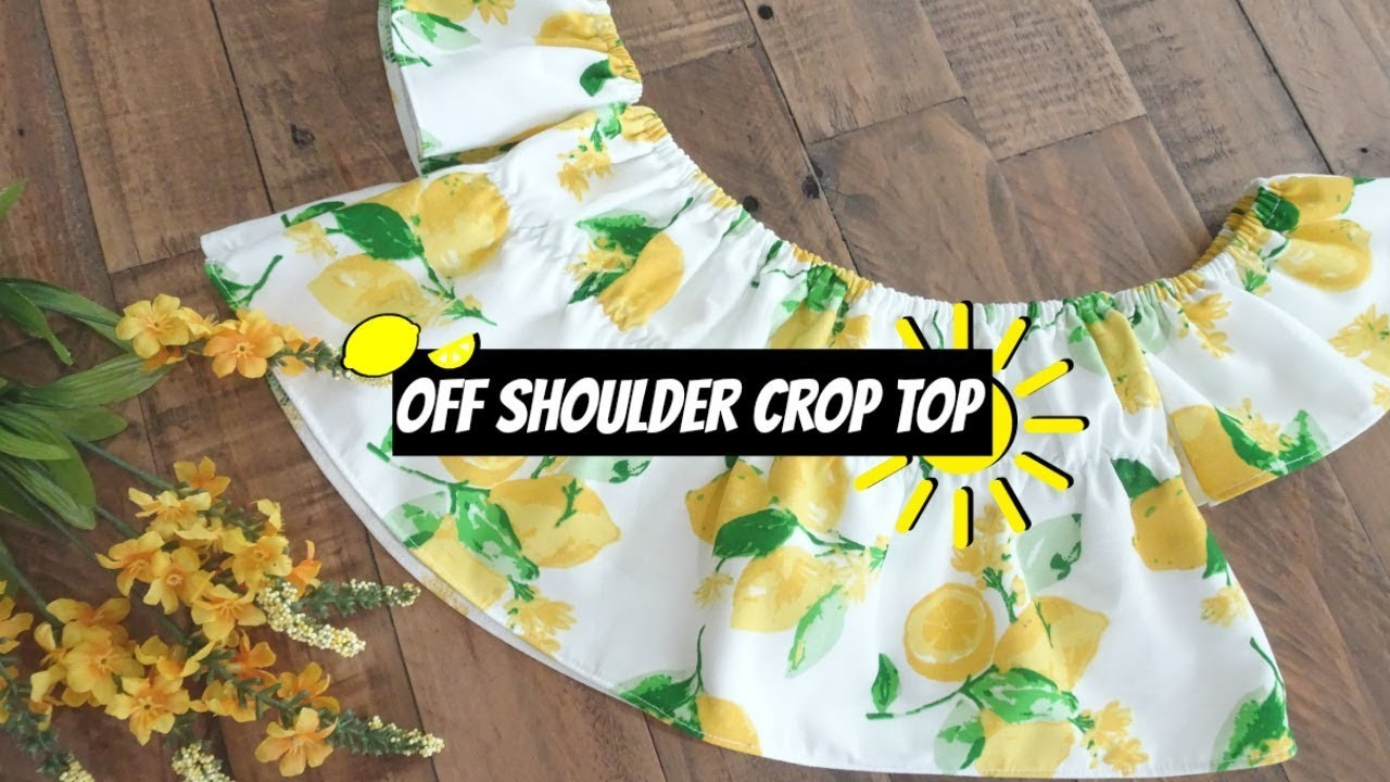 DIY Off Shoulder Crop Top | Create Any Size & No Pattern Needed