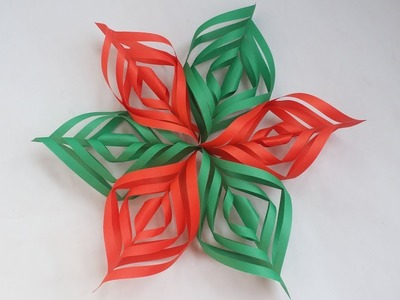 DIY : Paper 3D Snowflake!!! How to Make Beautiful Paper Snowflake For Christmas Decoration!!!