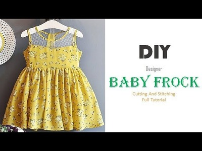 DIY Simple Cute Baby Frock Cutting And Stitching Tutorial
