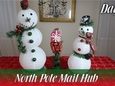 Dollar Tree DIY | North Pole Mail Hub - Day 23 | How To
