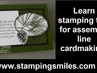 Earthy, easy and elegant Stampin' Up! Ornamental Pine Christmas card