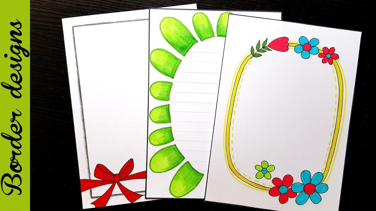 Easy, Border designs on paper, border designs, project ...