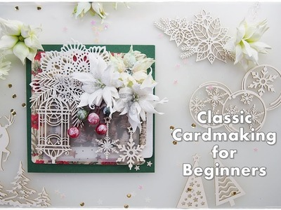 Easy Christmas Card for Beginners ♡ Maremi's Small Art ♡