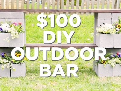Easy DIY Outdoor Bar and Planter - HGTV