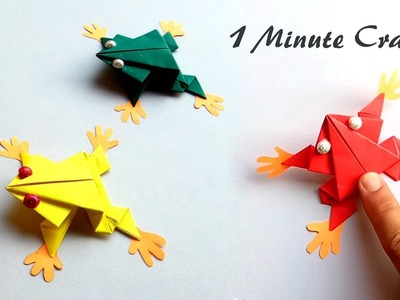 Easy tutorial - How to make paper frog that jumps high