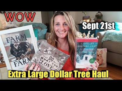 EXTRA LARGE Dollar Tree Haul + Quick Trip. AMAZING Items sept 21st