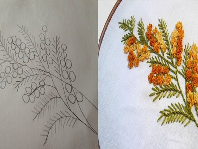 Flower design drawing  for embroidery bedsheet pillow cover cushion cover.
