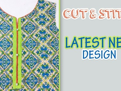 Front Neck Design For Kameez Cutting And Stitching