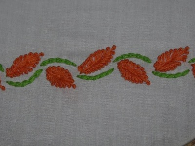 Hand Embroidery : Border Embroidery For Beginners