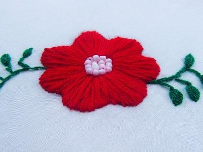 Hand Embroidery Flower Stitch By Nakshi Kantha World