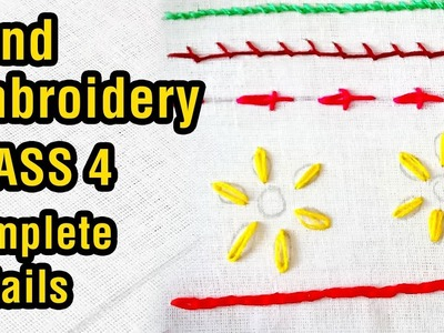 Hand embroidery for beginners | Class 4 | basic stitches designs | step by step | #DIY | #134