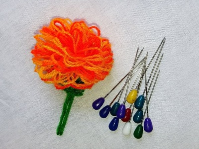 Hand Embroidery Tricks | Hibiscus Flower | easy & amazing Trick.