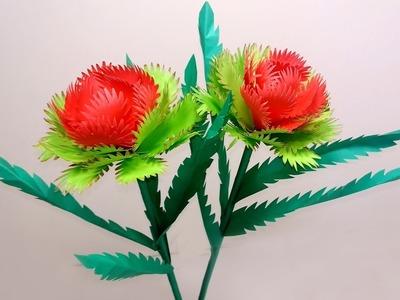 Handcraft Flower: Handcraft Stick Flower Making Idea   Flower with Paper   Jarine's Crafty Creation