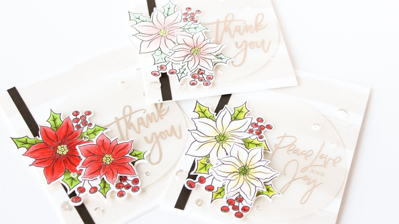 Holiday Thank You's Notes - Featuring Right At Home Stamps And The MISTI
