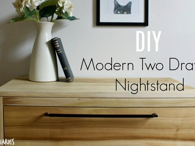 How to Build a Modern Two Drawer Nightstand