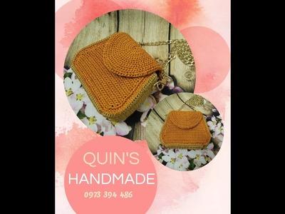 How to crochet a mini bag from single crochet part 1.2 - Hướng dẫn móc túi mini từ mũi đơn phần 1.2