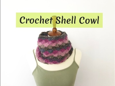 How to Crochet Shell Cowl
