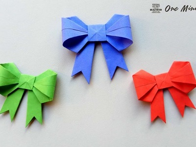 How to fold a Paper Bow.Ribbon ♥︎ Gift Wrapping Ideas