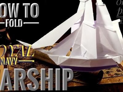 How to fold ROYAL NAVY WARSHIP.