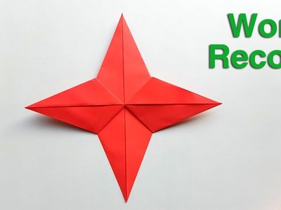 How to fold the world record paper Star