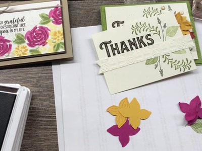 How to make 2 Gorgeous Fall Floral Cards
