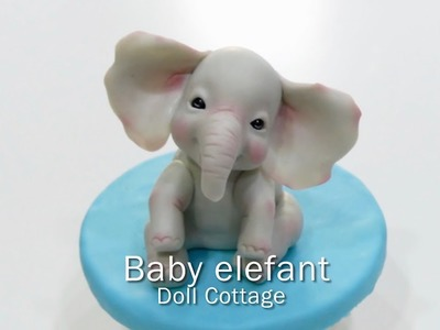 How to make a baby elephant . Como modelar un elefantito bebe.