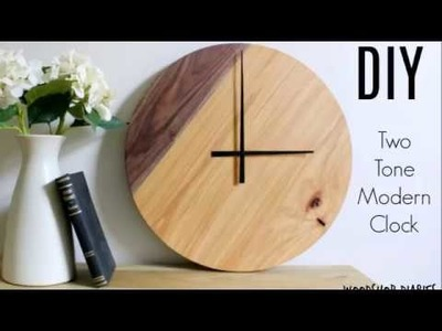 How to Make a Two Tone Modern Wooden Wall Clock