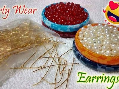 How To Make Beautiful Earrings using Crystal At Home | DIY | Jewelry Making | DiyArtiePie