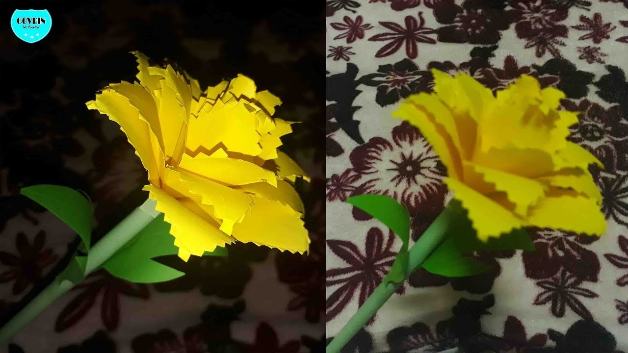 How to Make Beautiful Flower with Paper | Making Paper Flowers Step by Step