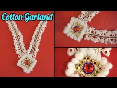 How to make cotton garland | Beautiful cotton Garland for god