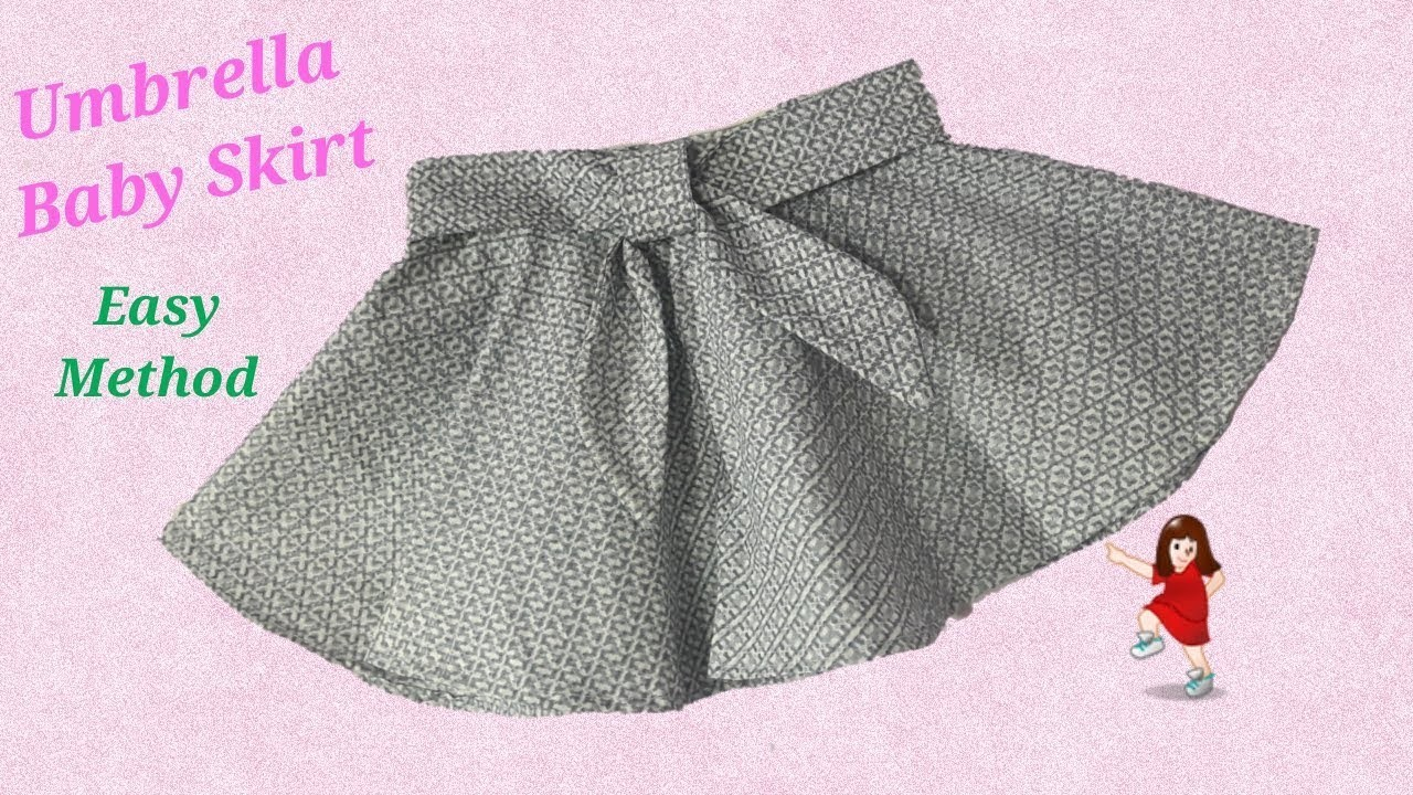 How to make Designer Umbrella cut Skirt for Baby Girl. Baby skirt. by simple cutting